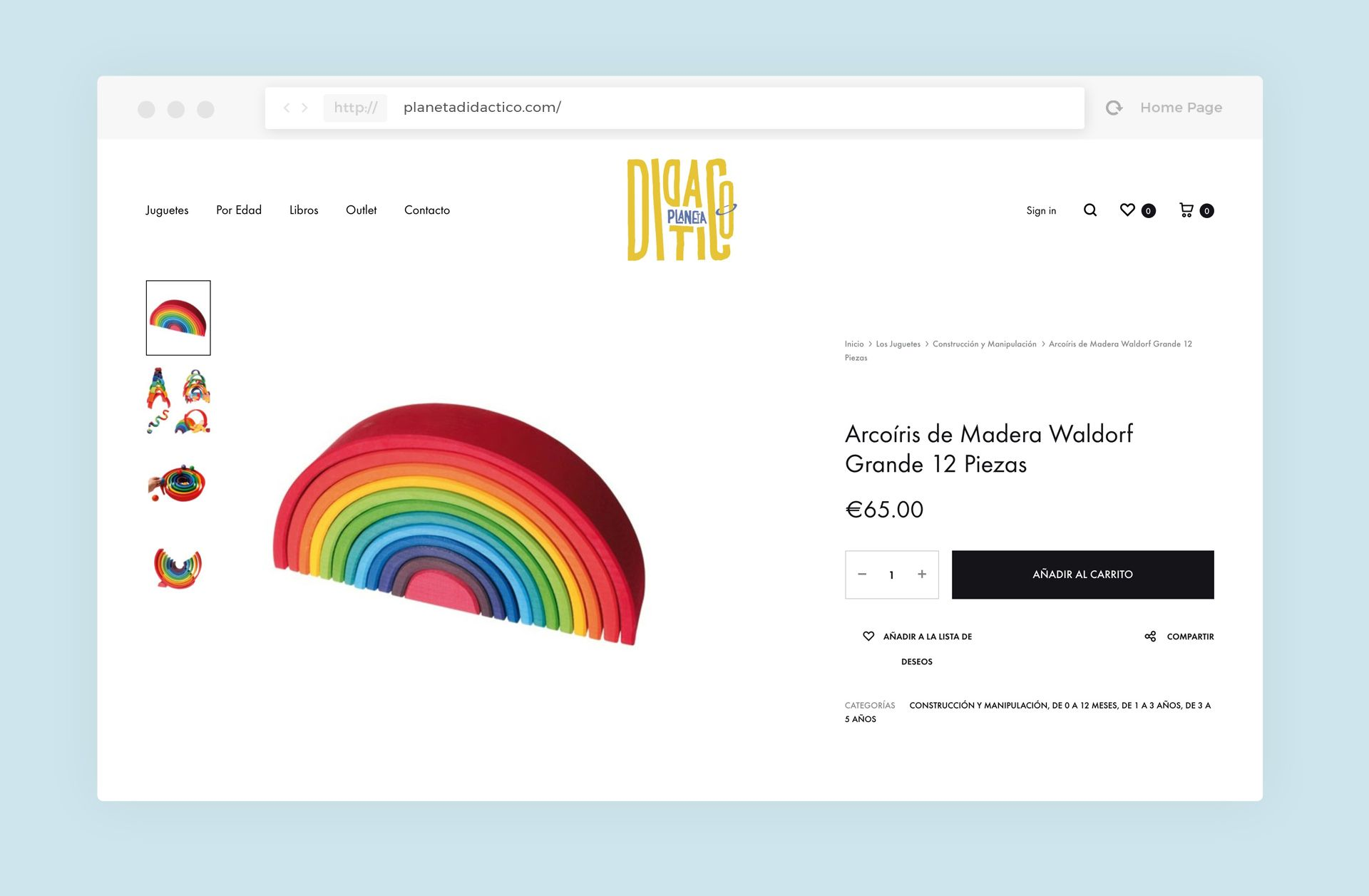 diseño tienda online planeta didactico