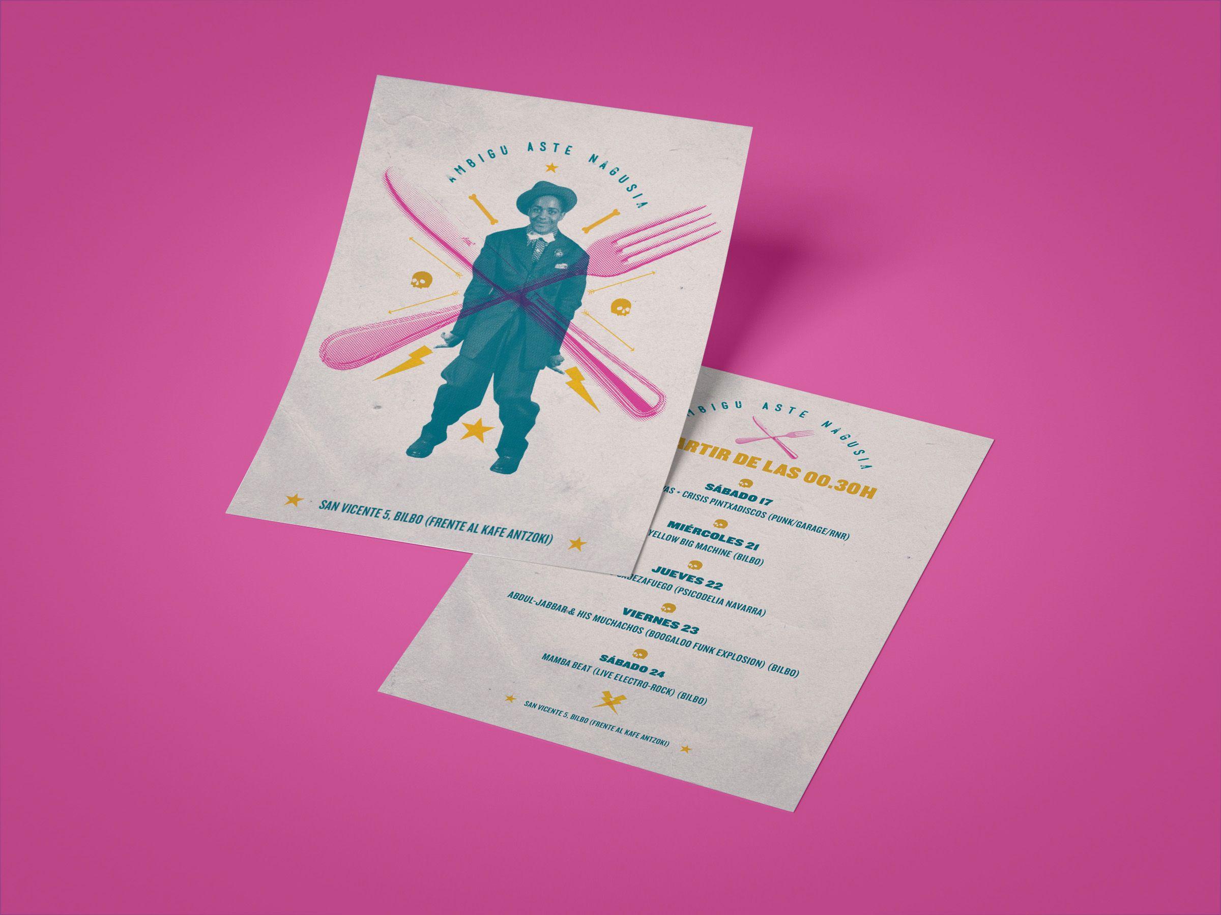diseño flyer cartel ambigu