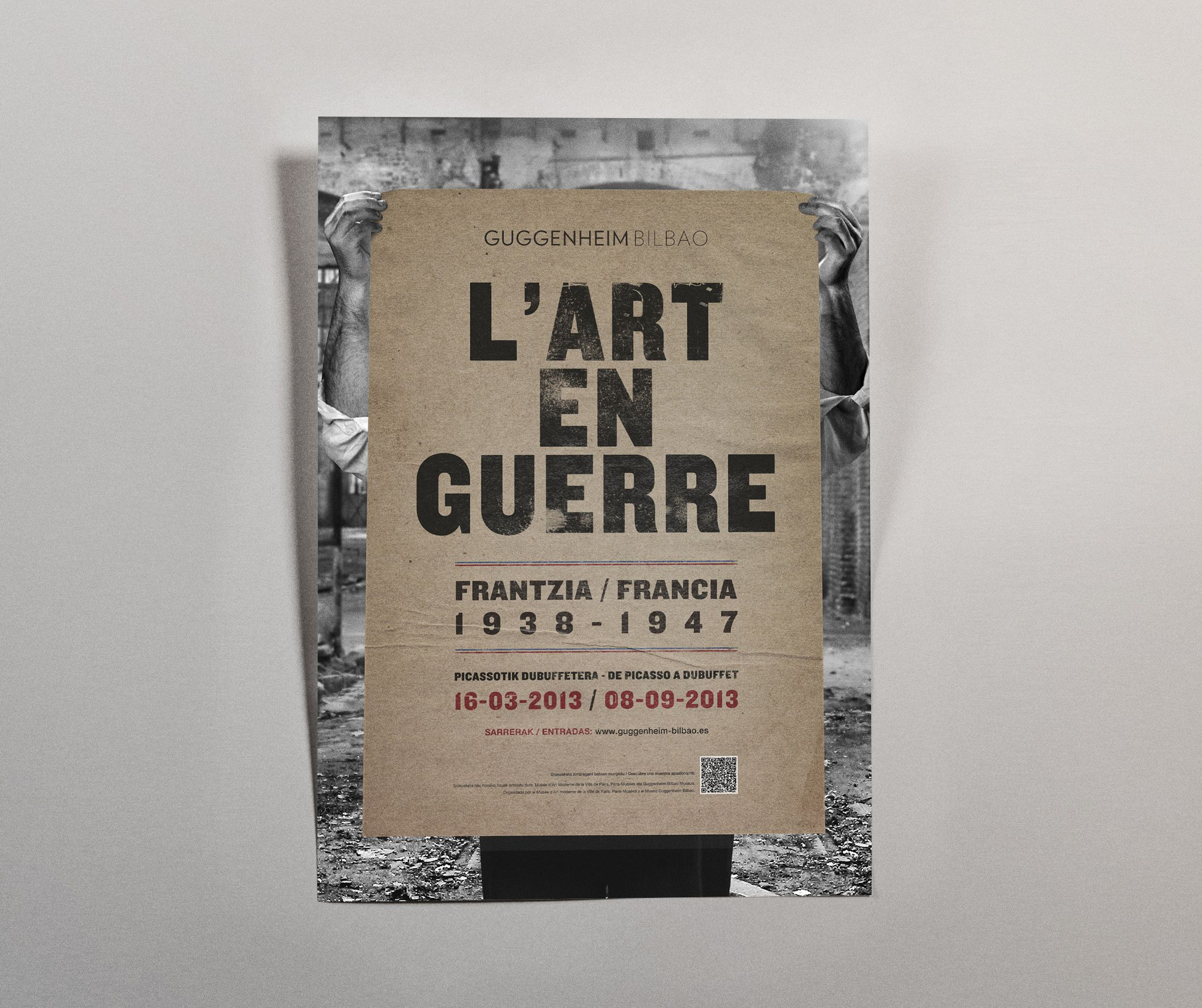 diseño flyer cartel arte en guerra