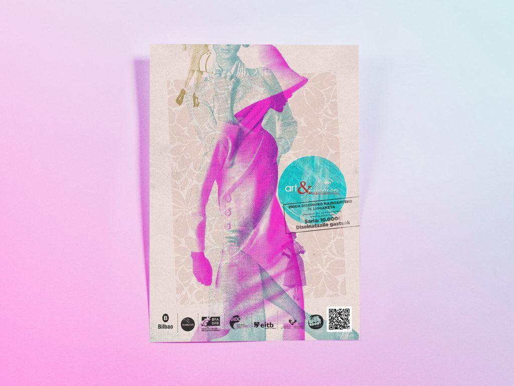 diseño flyer cartel art and fashion