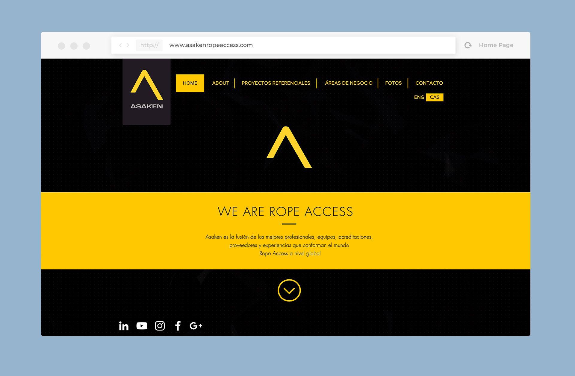 diseño web asaken