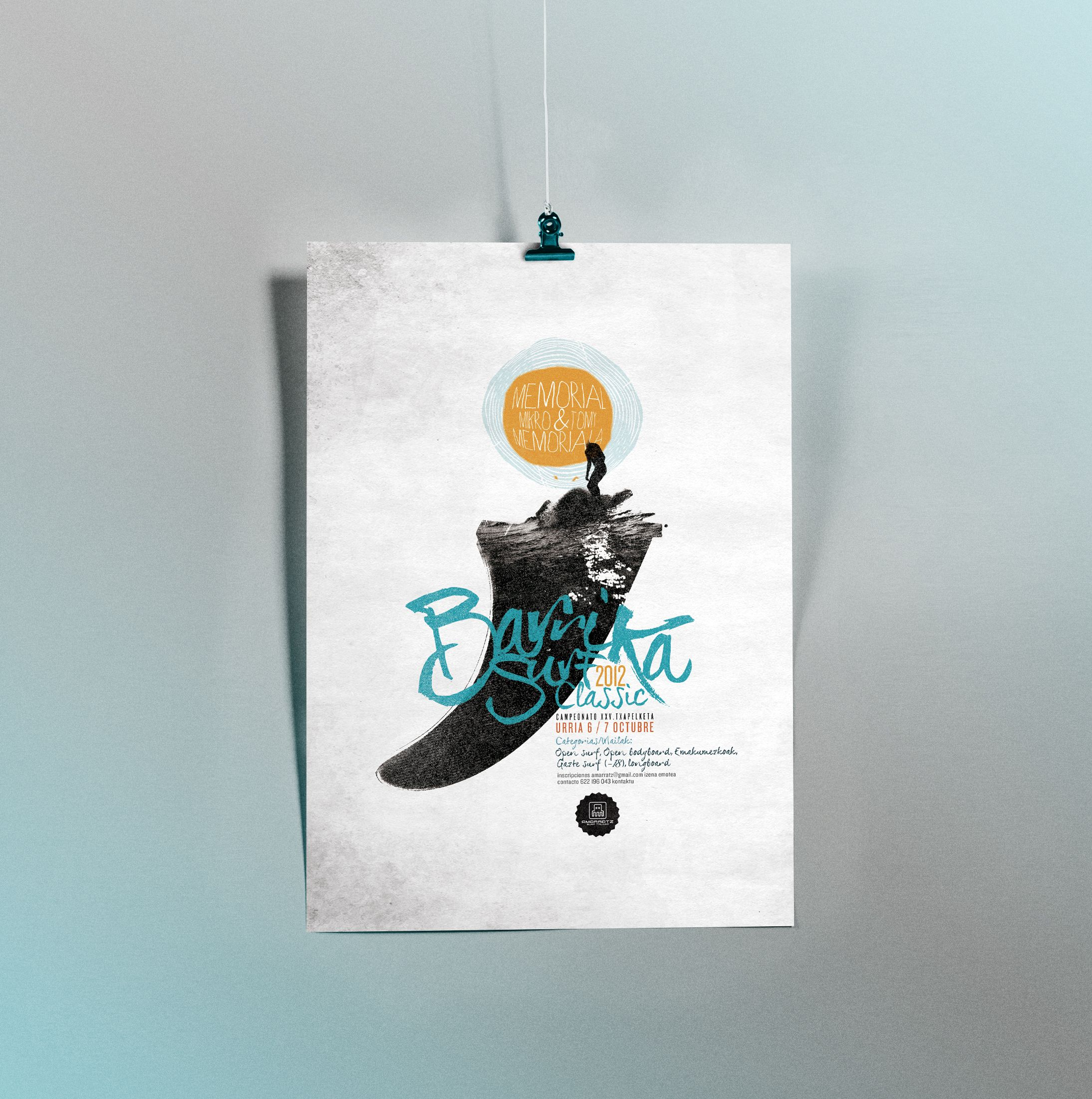diseño cartel flyer barrika
