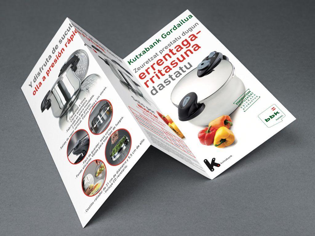 diseño triptico folleto bbk