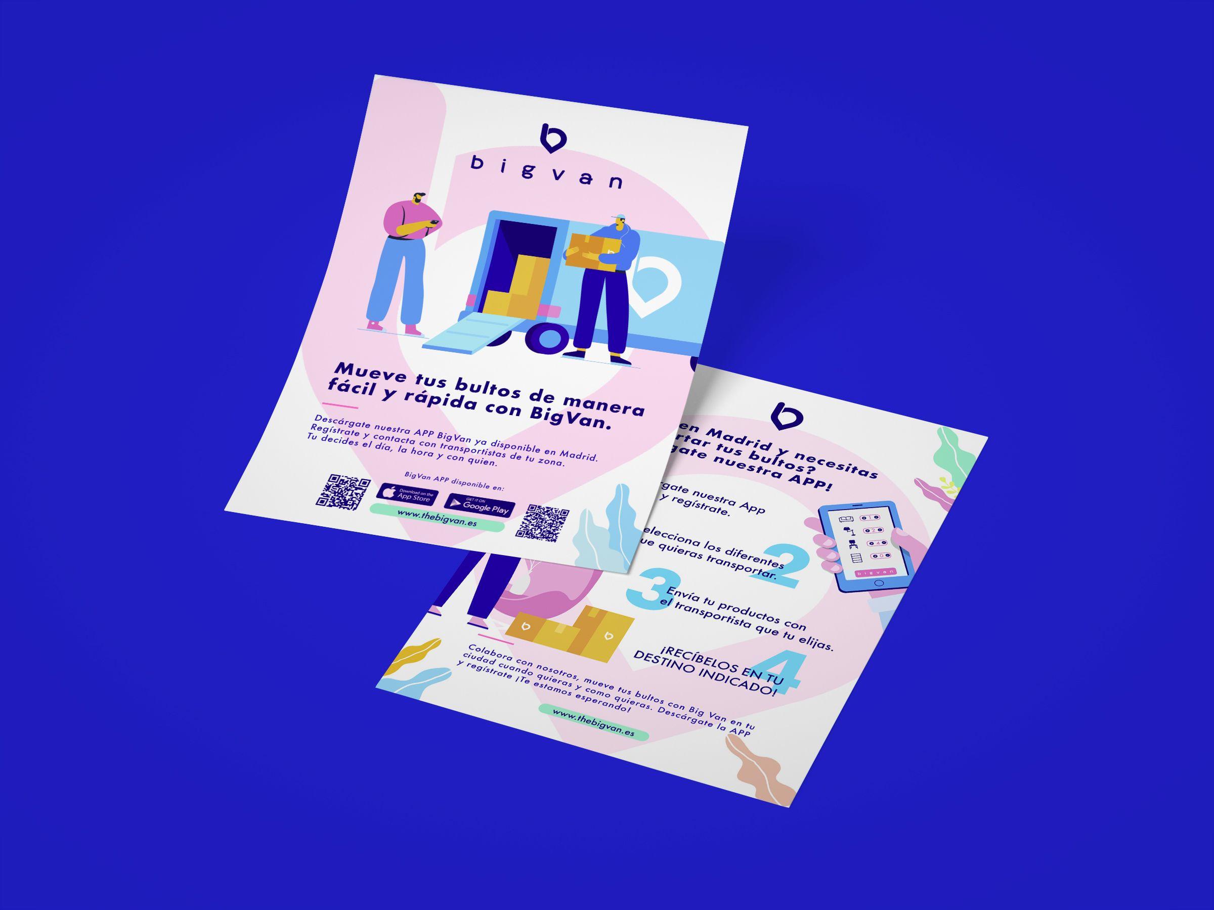 diseño flyer bigvan