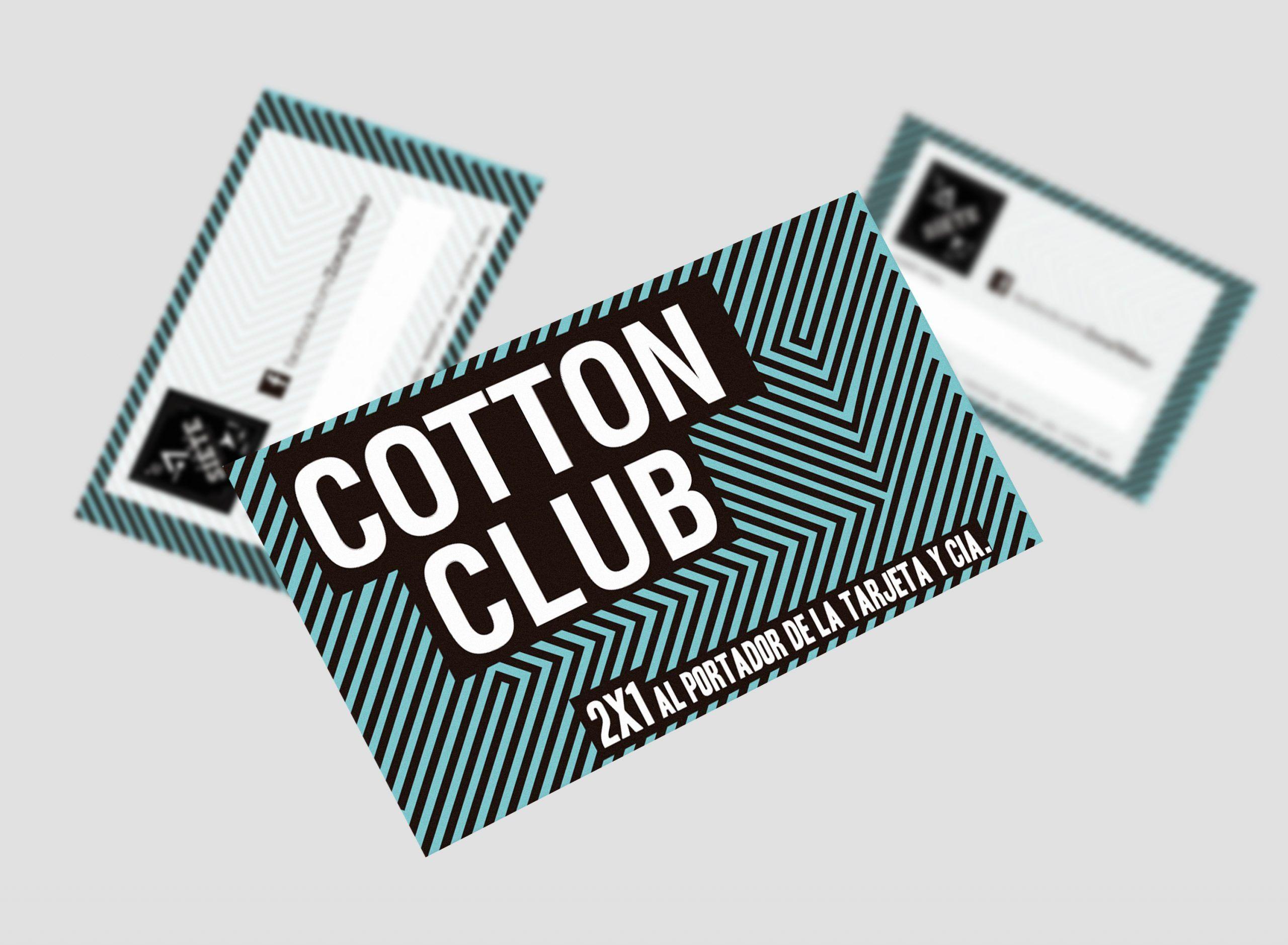 diseño tarjeta visita cotton club