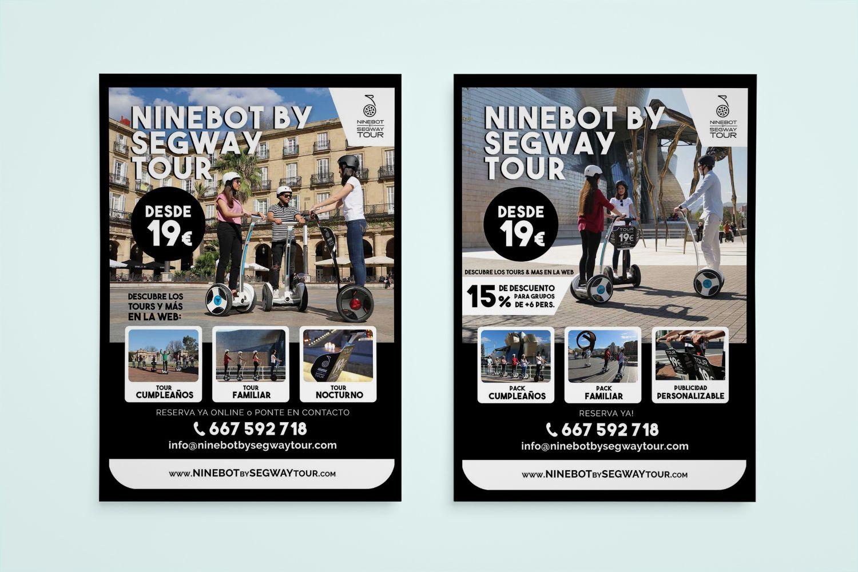 diseño flyer ninebot
