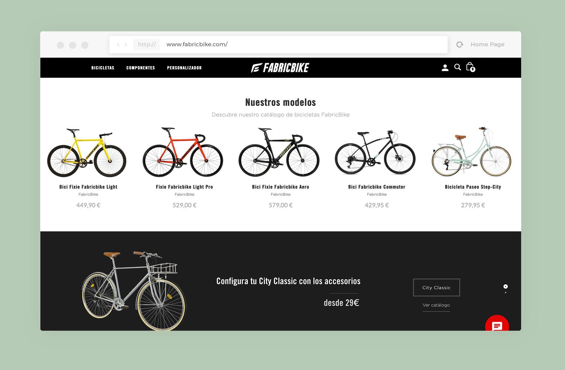 diseño tienda online fabrikbike