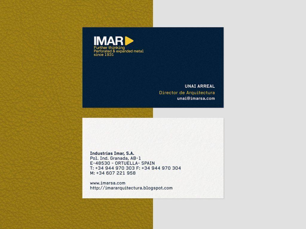 diseño tarjeta visita imar