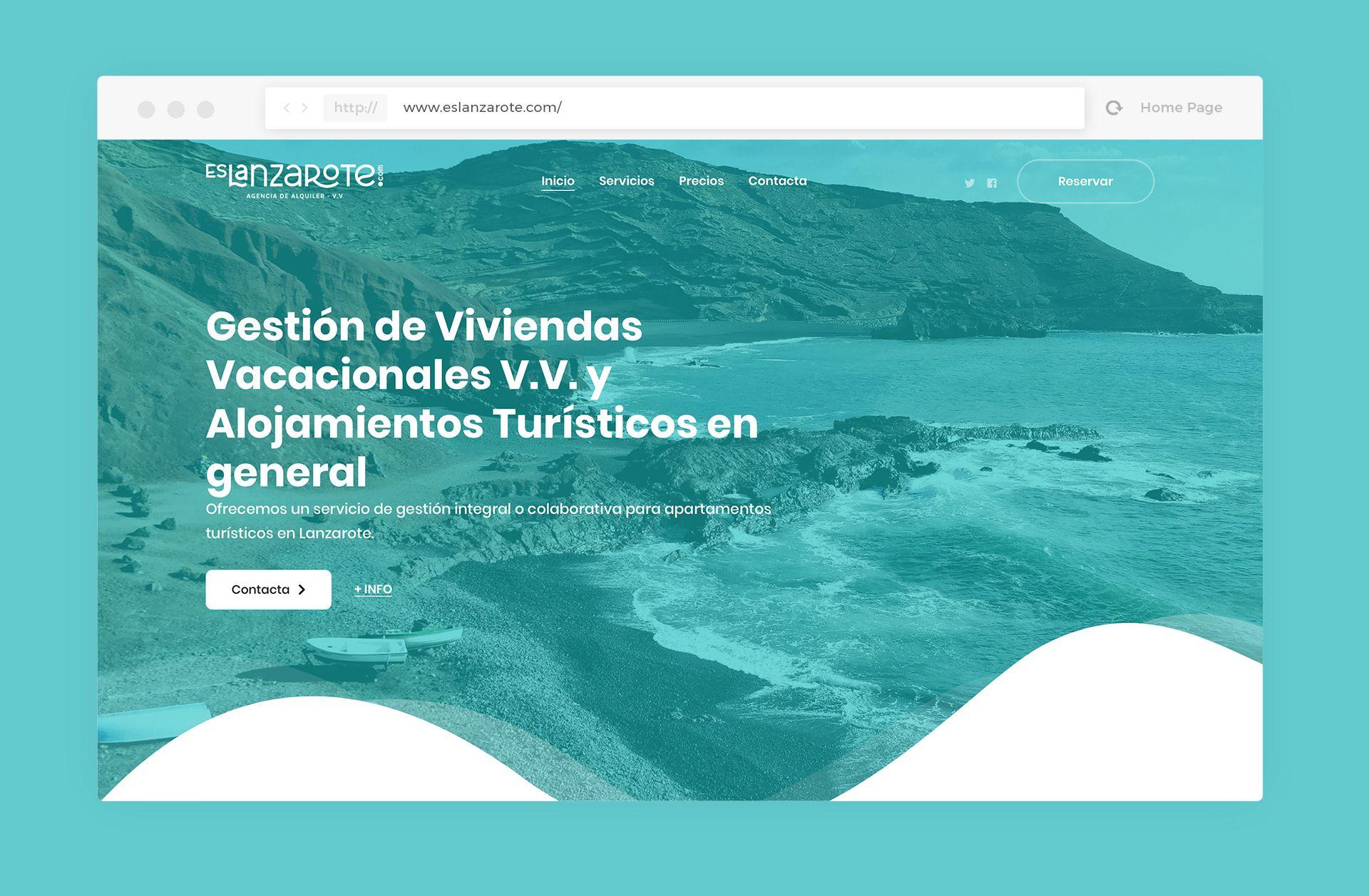 diseño web flores para venus es lanzarote