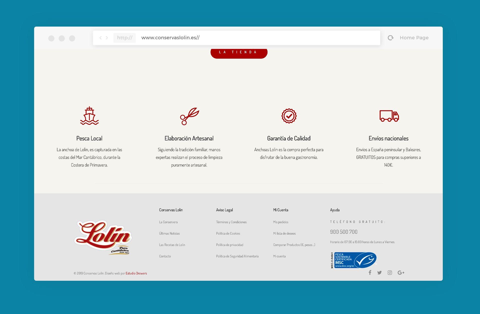 diseño tienda online lolin