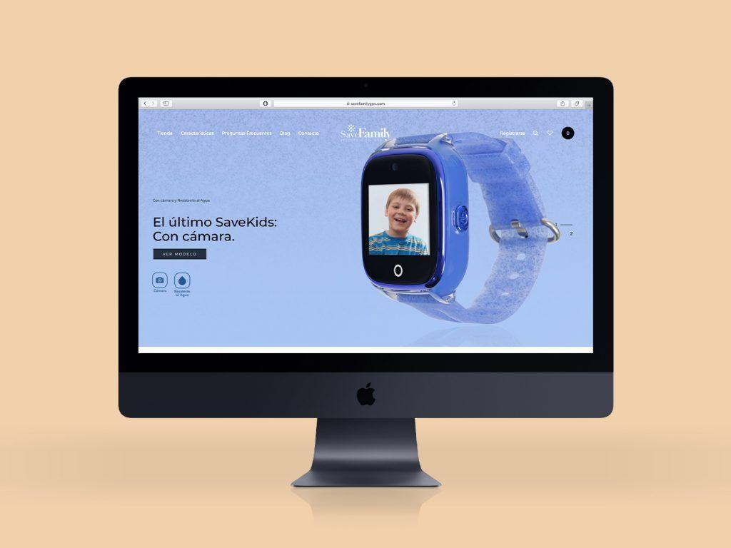 diseño tienda online savefamily