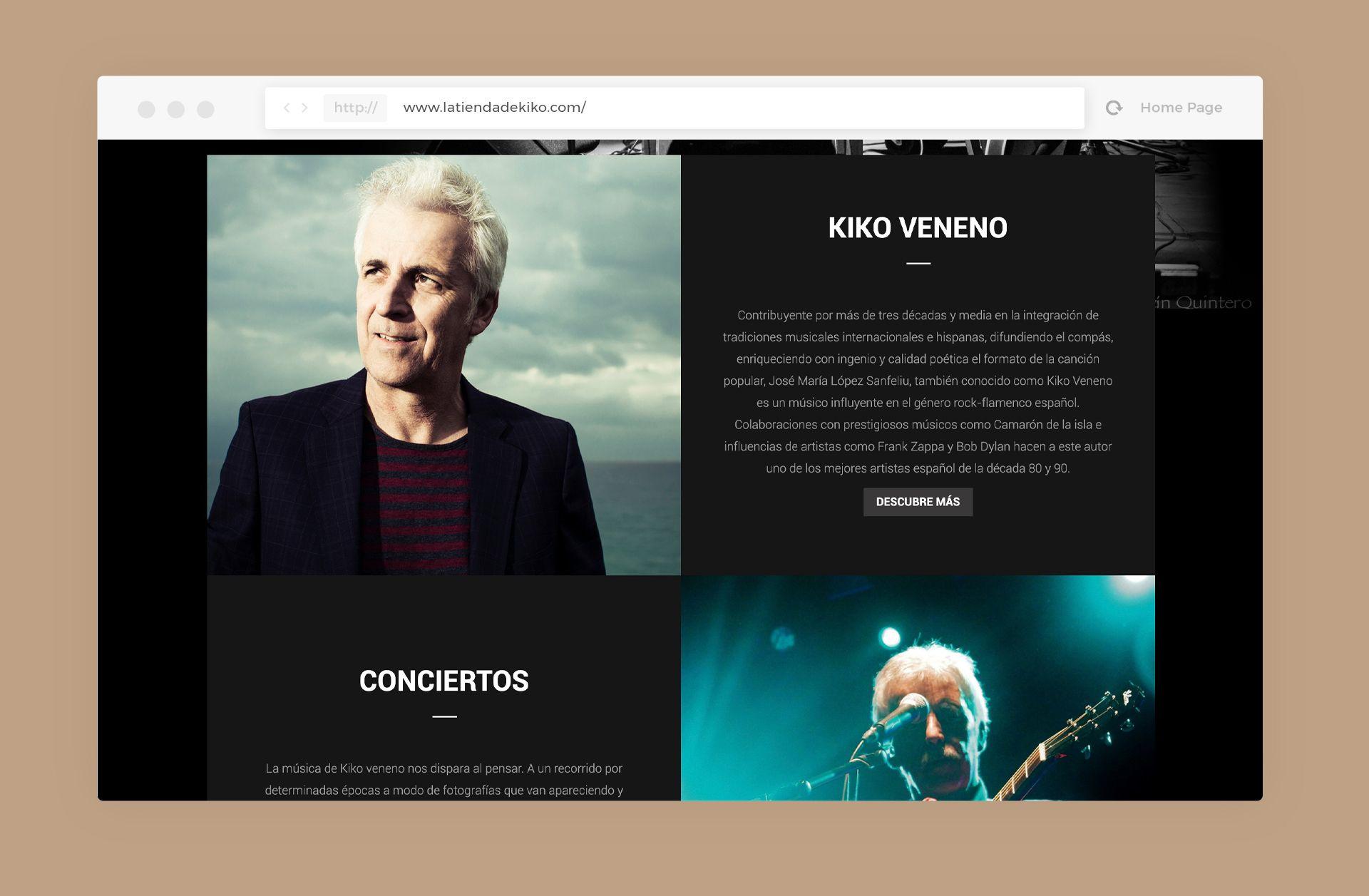 diseño web kiko veneno