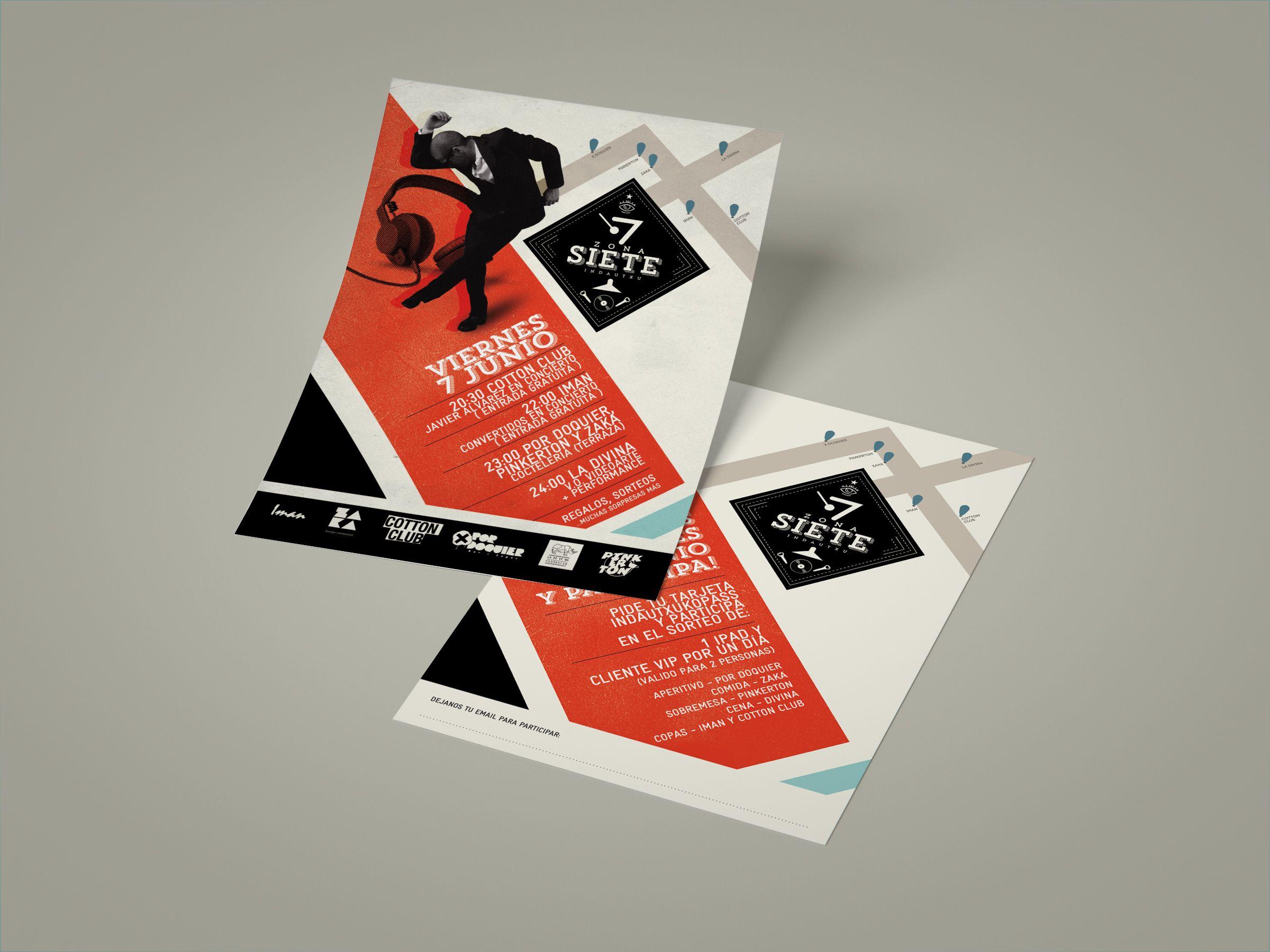 diseño flyer cartel zona 7